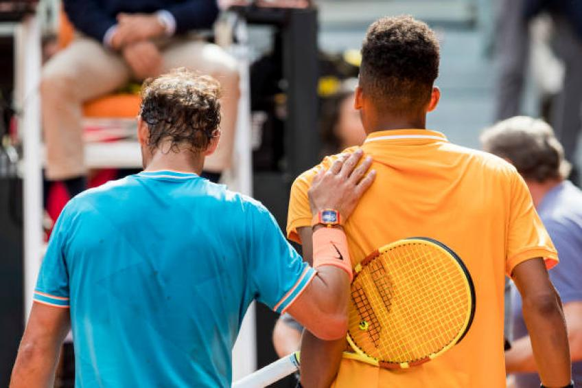 Facing Rafael Nadal was a great experience for Auger-Aliassime - Coach