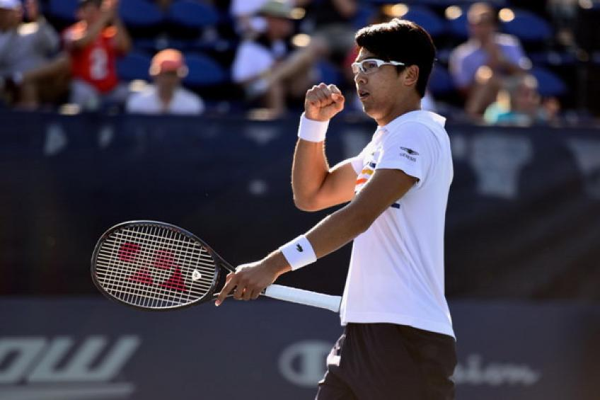 Hyeon Chung returns to action after five and a half months, entering..