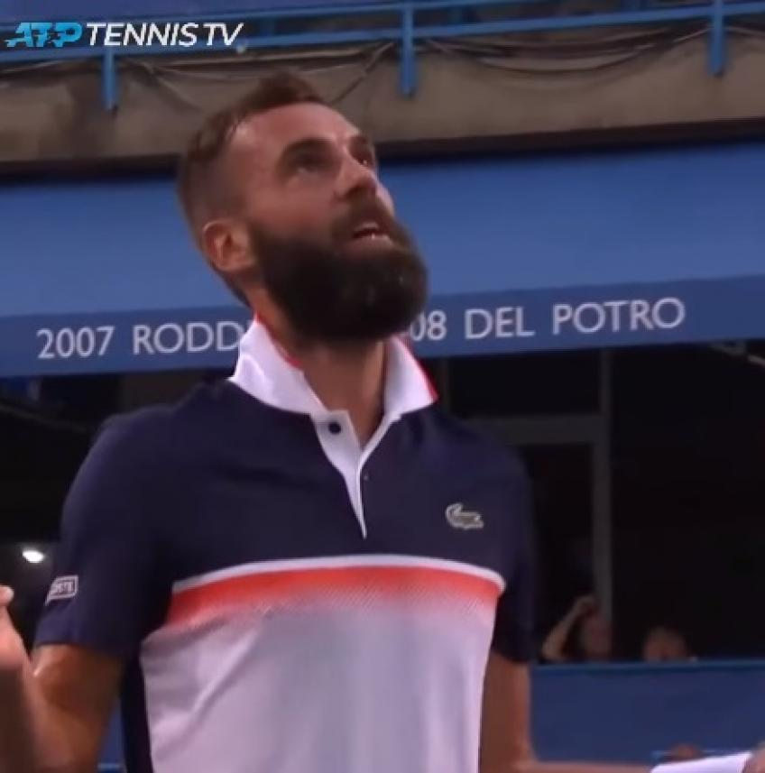 Benoit Paire gets crazy, imitates Tsitsipas's shoes issue in Washington
