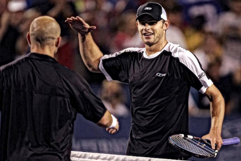 On this day: Andre Agassi edges Andy Roddick in all-American clash