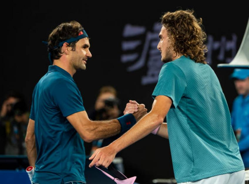 Tsitsipas: 'My one-handed backhand is also inspired to Roger Federer'