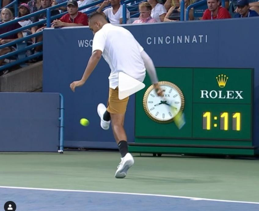 Kyrgios vs Sonego thrilling rally