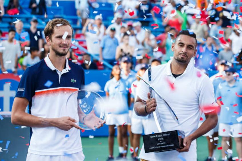 Daniil Medvedev on sharing jet with Stefanos Tsitsipas and Nick Kyrgios