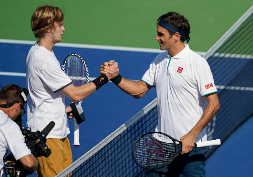 Andrey Rublev: 'Roger Federer is a legend. Look at how he took the defeat!'