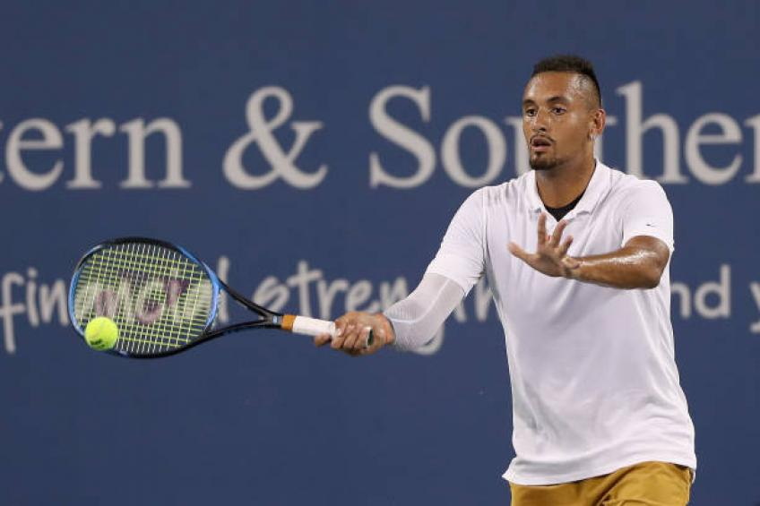 Kyrgios fined $113,000 for Cincinnati meltdown, faces suspension