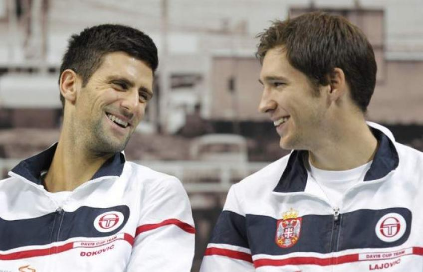 Dusan Lajovic reacts to Novak Djokovic's decision to play Davis Cup Finals