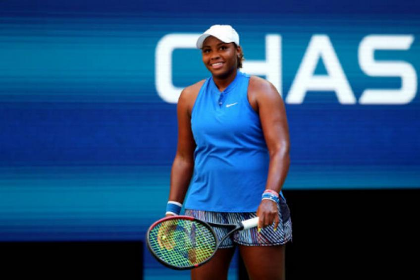 WTA US Open: Attacking Taylor Townsend topples Wimbledon champion Halep
