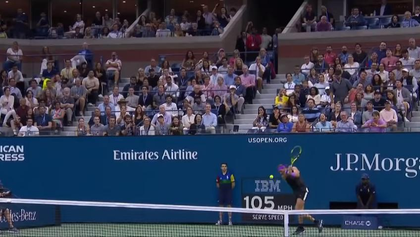 Rafael Nadal Combines Defensive Lob With 84mph Passing Shot