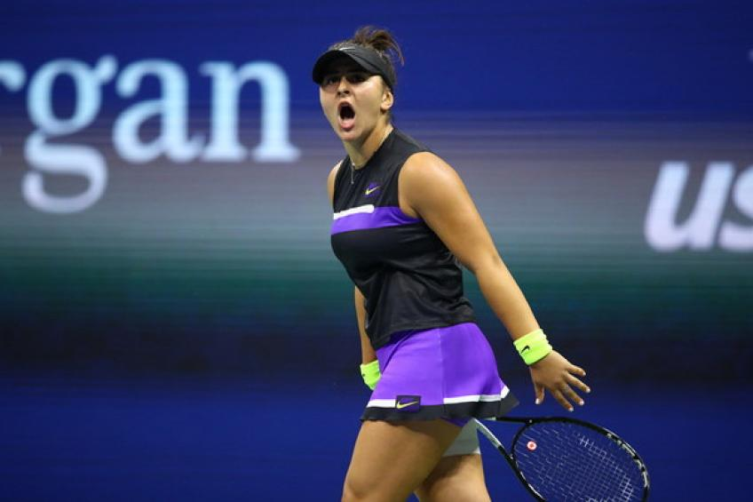 WTA US Open: Bianca Andreescu survives Elise Mertens to set Bencic clash