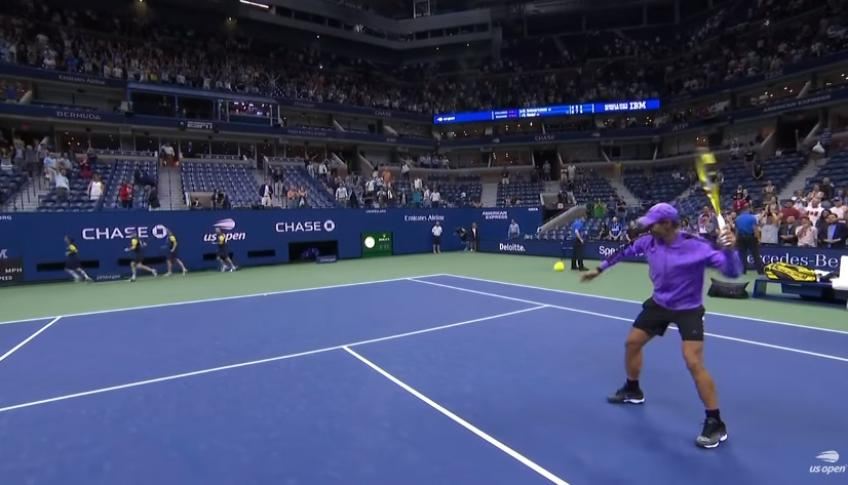 Rafael Nadal Hits Ball Into Press Booth After Quarter-Final Match