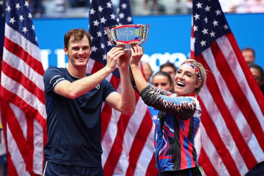 Jamie Murray reacts to winning US Open mixed doubles title