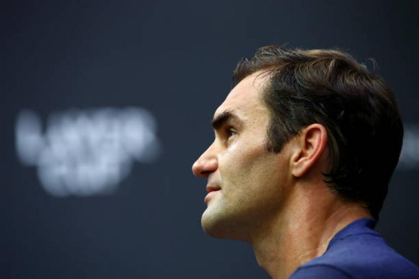 Federer gives tour of 2019 Laver Cup stadium