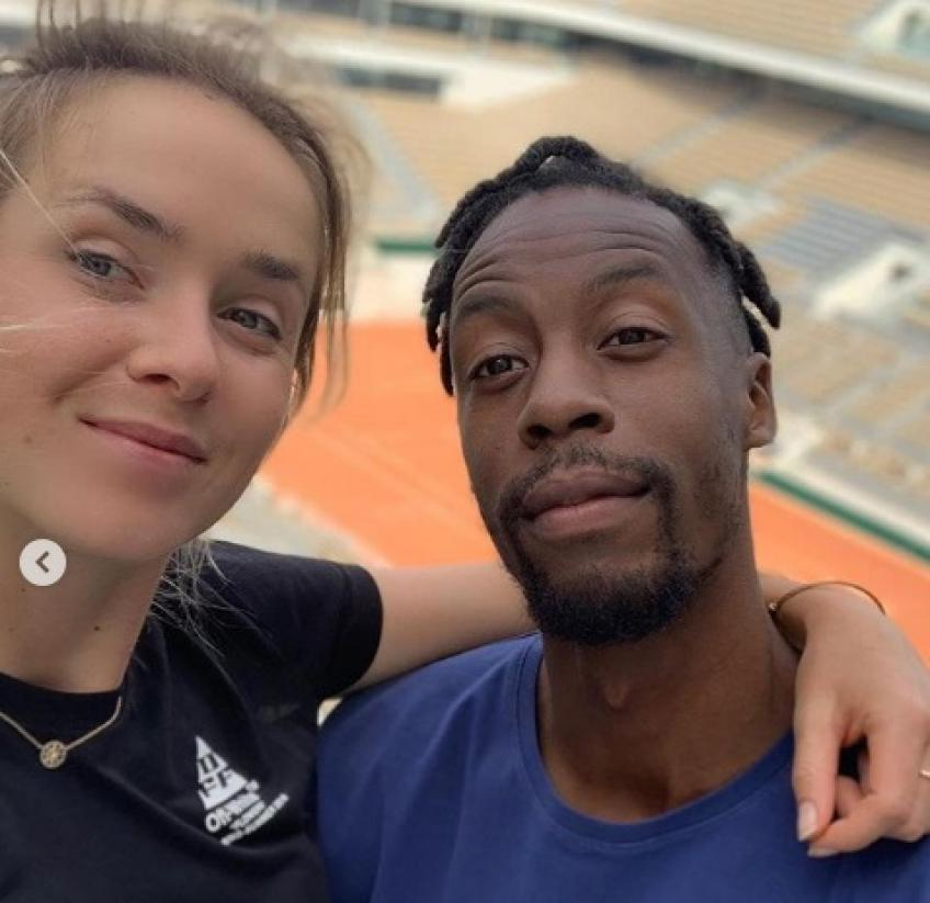 Gael Monfils shares conversations with Elina Svitolina about tennis