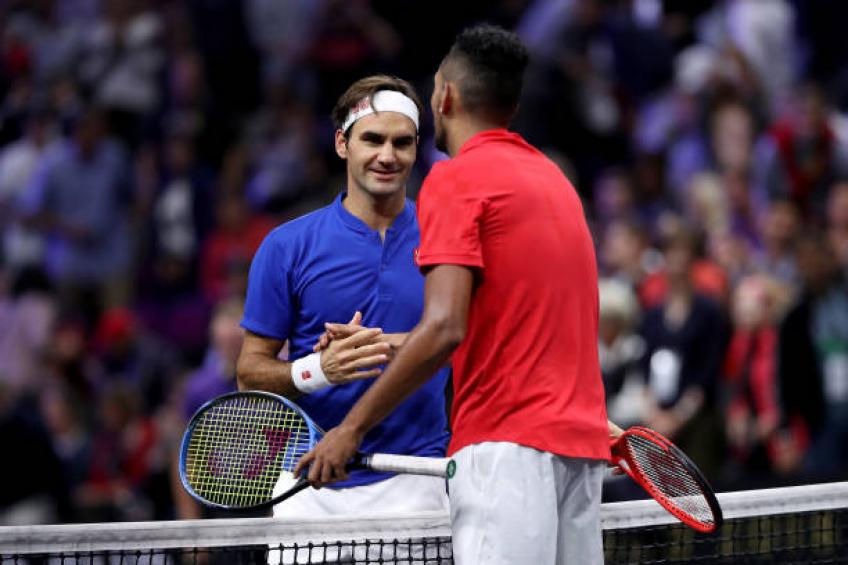 Kyrgios: 'Isner and I were unlucky against Roger Federer at the Laver Cup'