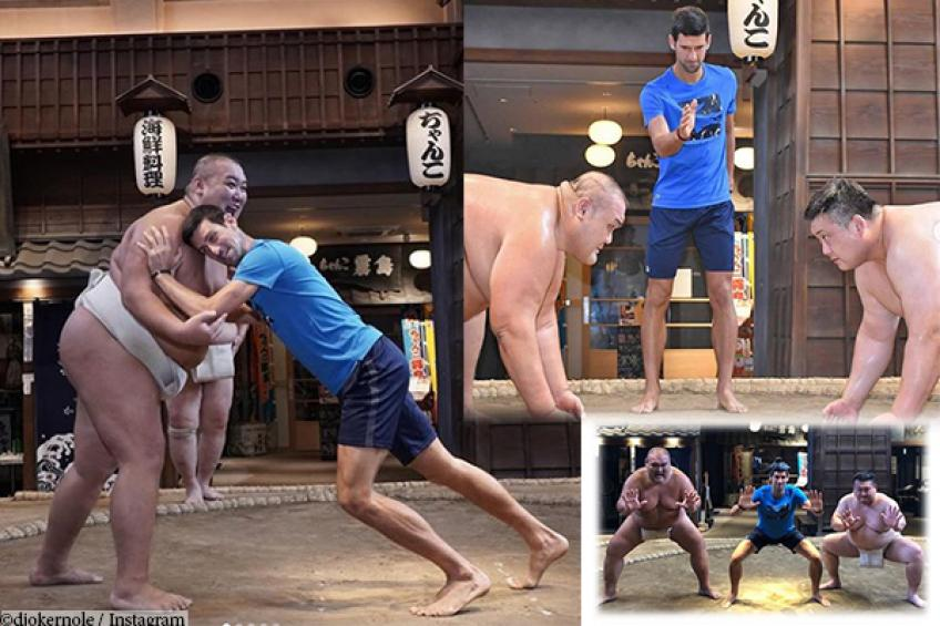 Djokovic tried Sumo wrestling before Japan Open, but failed to impress