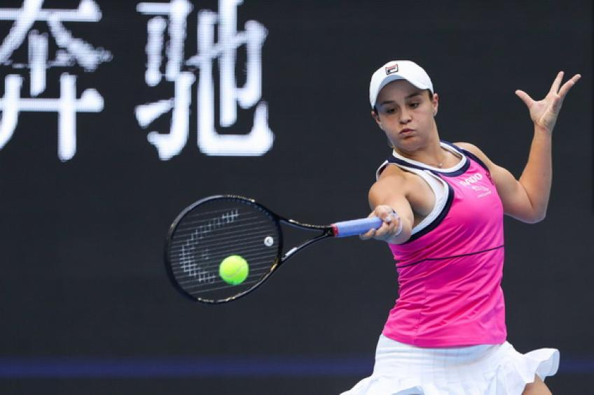 Ashleigh Barty takes positive notes from two solid weeks in China