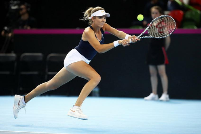 Katie Boulter is ready to get back in action after nasty back injury