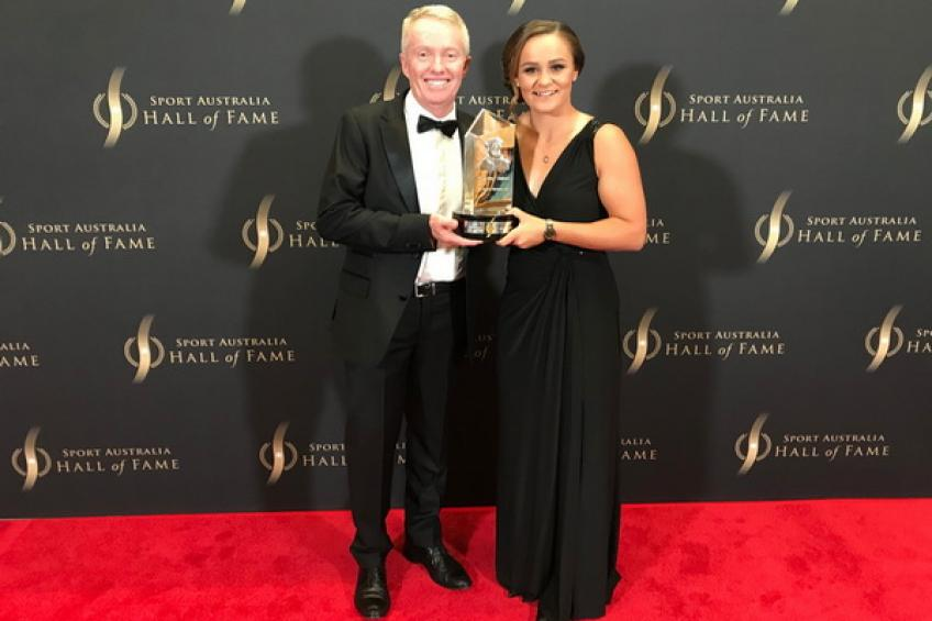 Ashleigh Barty wins 'The Don' award at the Sport Australia Hall of Fame