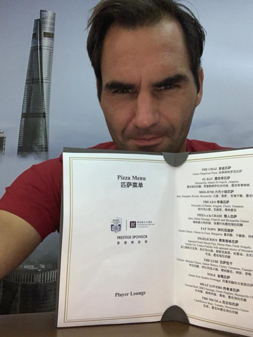 A pizza named after Federer among the highlights of the Shanghai Masters