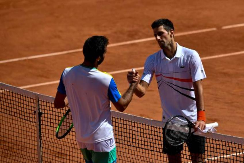 Against Novak Djokovic I gave up for tiredness, says Italian player