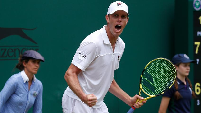 Sam Querrey reacts to Grigor Dimitrov win in Stockholm