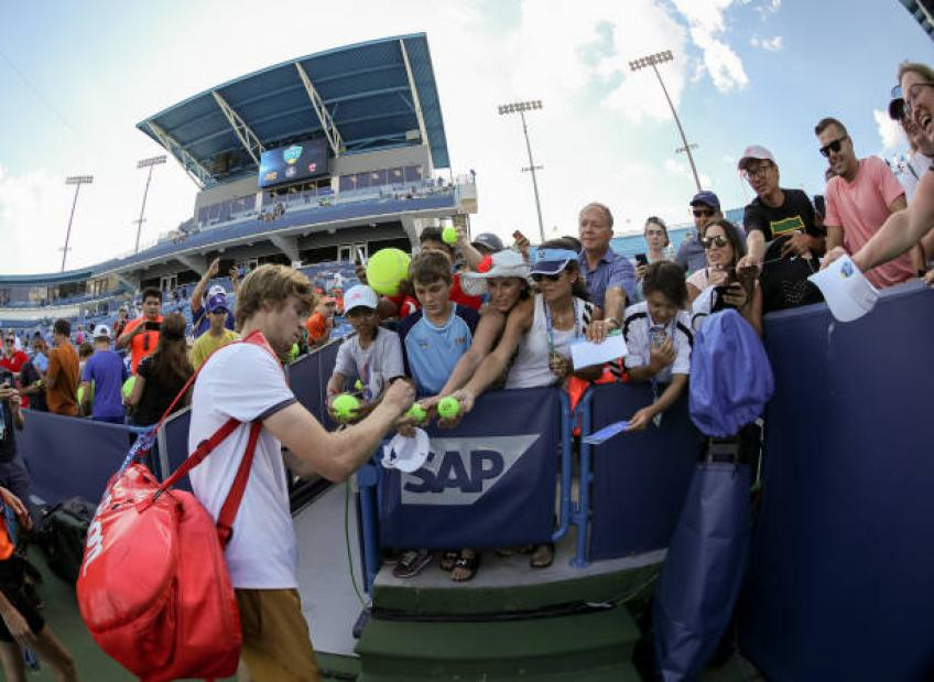 Andrey Rublev: 'There were no goals before win over Roger Federer'