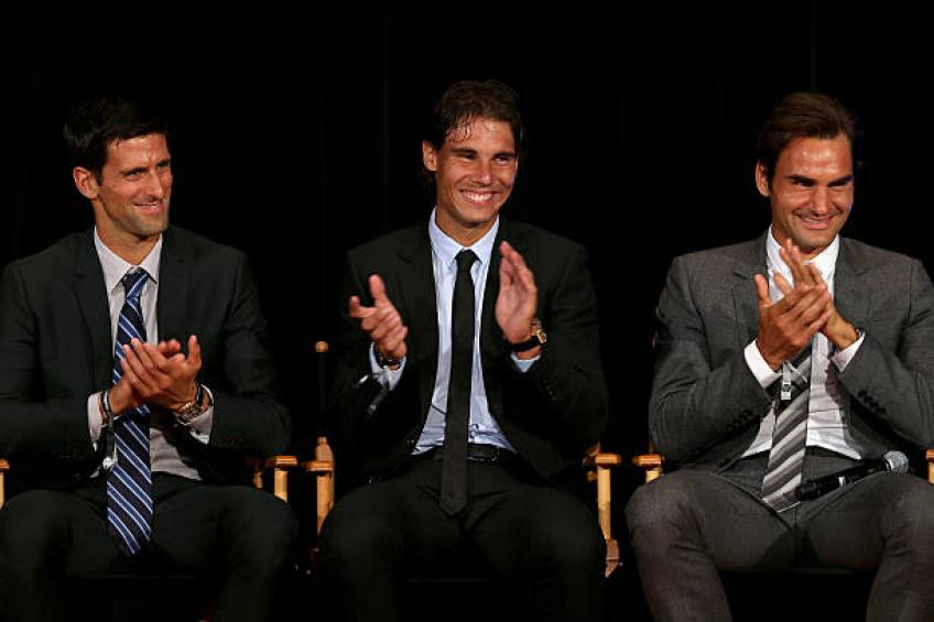 'It's incredible Federer, Nadal, Djokovic keep being at the highest level'