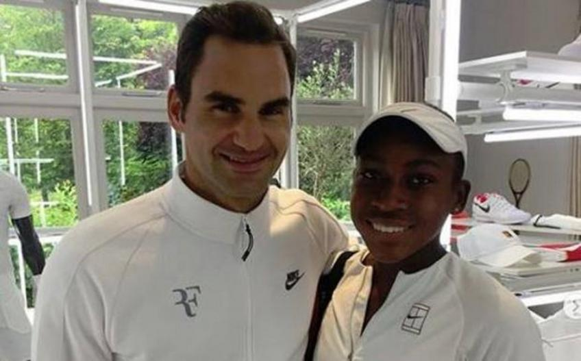 Cori Gauff jokes: 'I don't have Roger Federer's number'