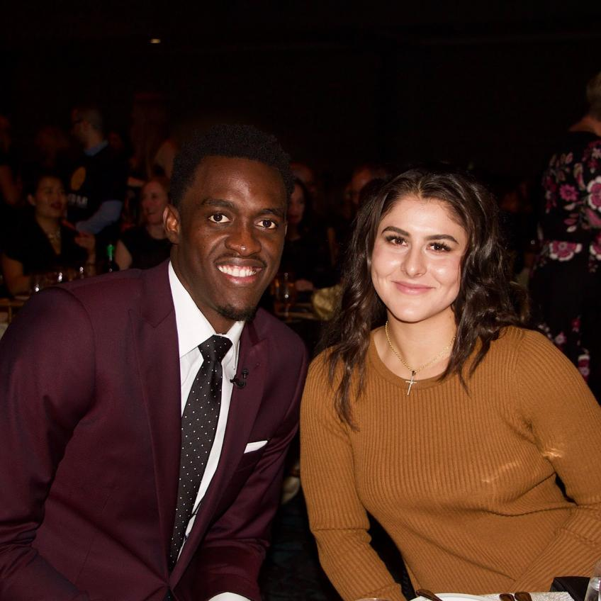 Biance Andreescu and Pascal Siakam attend Right to Play Hero's Gala