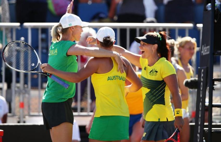 Casey Dellacqua shares her Fed Cup experiences