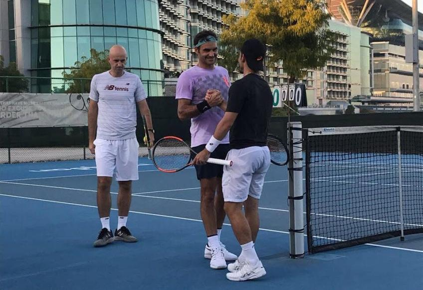 Thomas Fabbiano trains with Federer: 'Roger is a great man'
