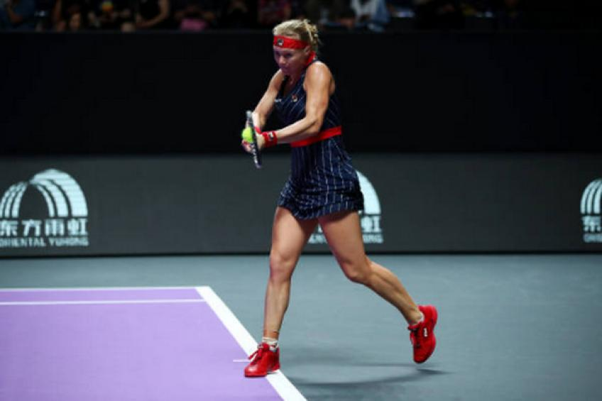 WTA Finals: Kiki Bertens uses her chance to topple Ashleigh Barty