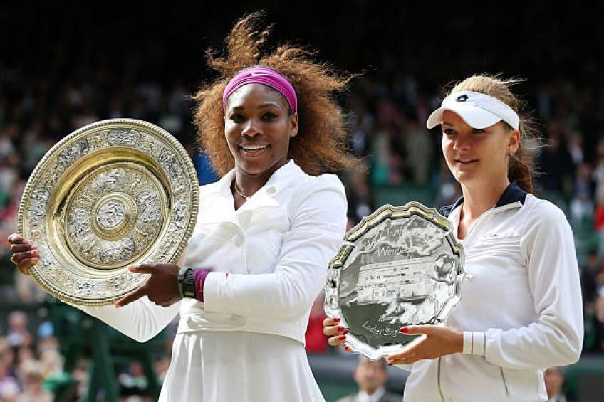 Radwanska:'When Serena Williams is on fire,she can reach every Major final'