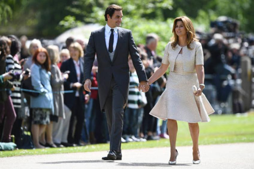 Why is Roger Federer's wife Mirka not attending matches?