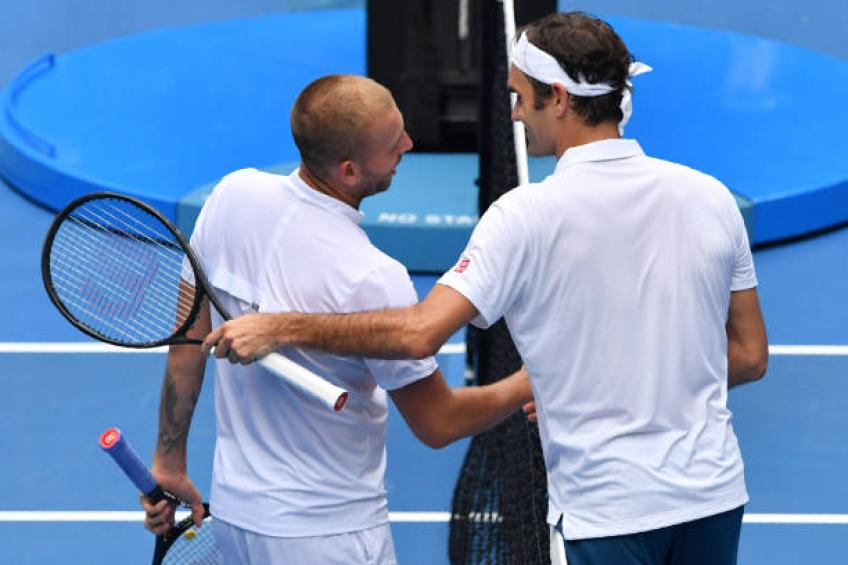 Dan Evans: 'I had lunch and talked with Roger Federer for a long time'