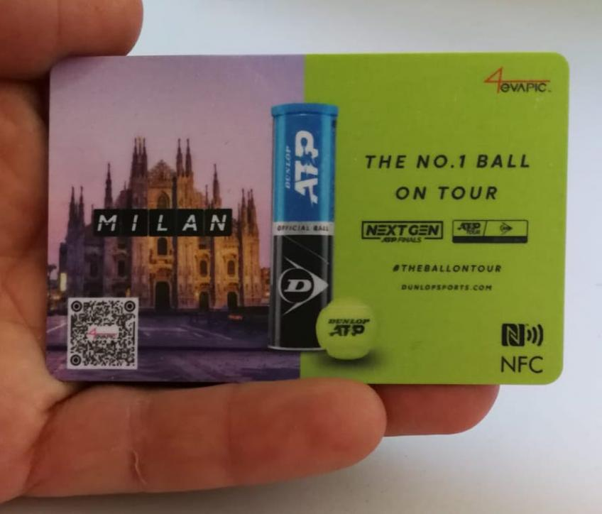 In Milan during the Atp finals, the Dunlop card were distributed