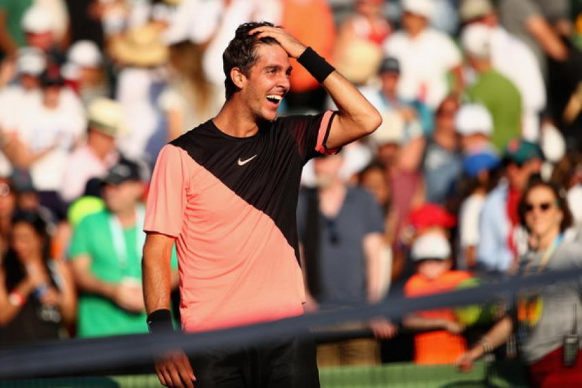 Thanasi Kokkinakis practices in Adelaide ahead of new season