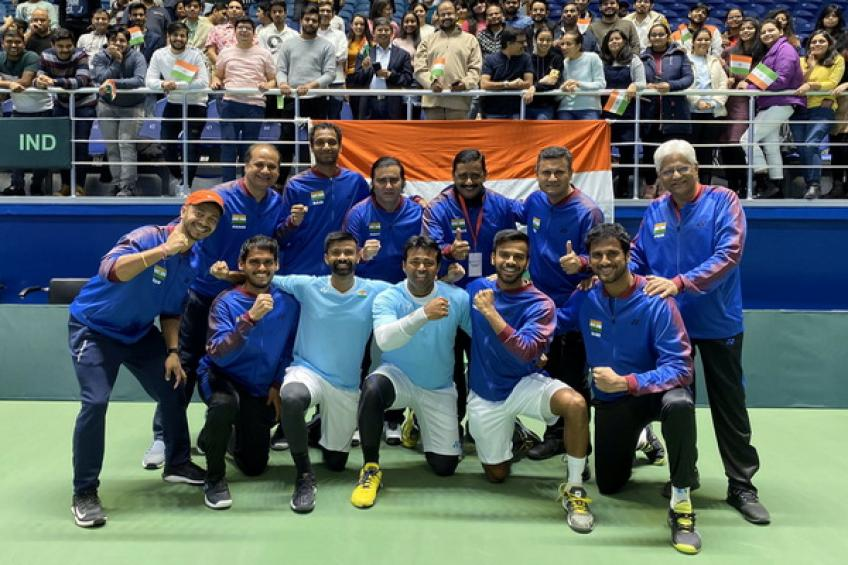 Davis Cup: India storms over Pakistan to secure Qualifiers berth vs Croatia