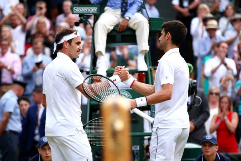 'Novak Djokovic and Roger Federer do not get on so great' - Rusedski