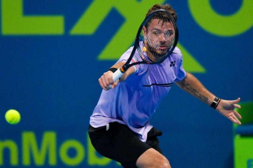 Karim Alami urges the crowd to come and watch big tennis stars in Doha