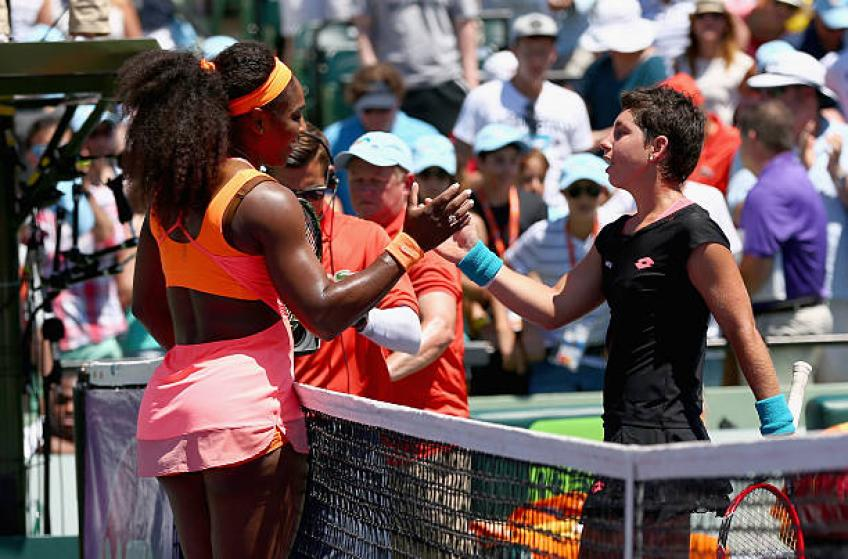 Suarez Navarro: 'Serena Williams is the best player I have ever faced'