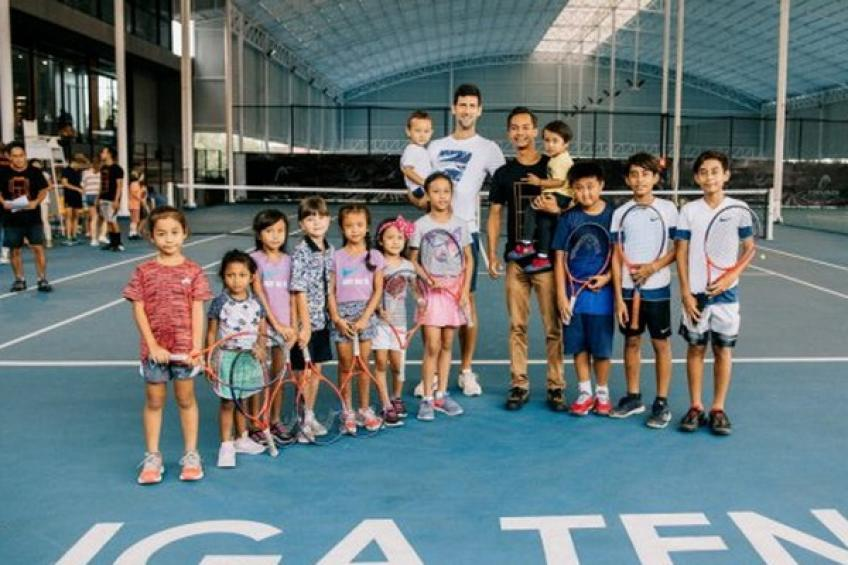 Novak Djokovic spends time at Tennis Center & Academy in Bali