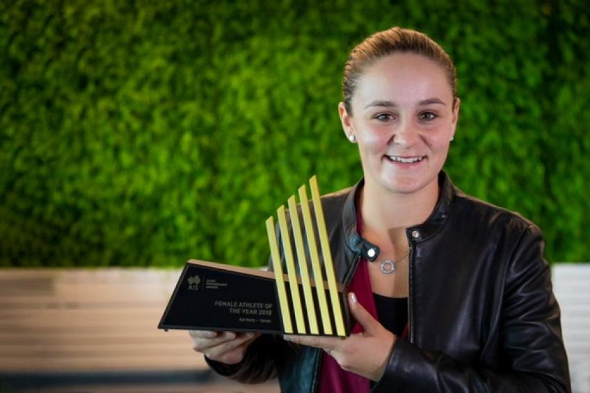 Ashleigh Barty claims Australian Institute of Sport Performance Awards