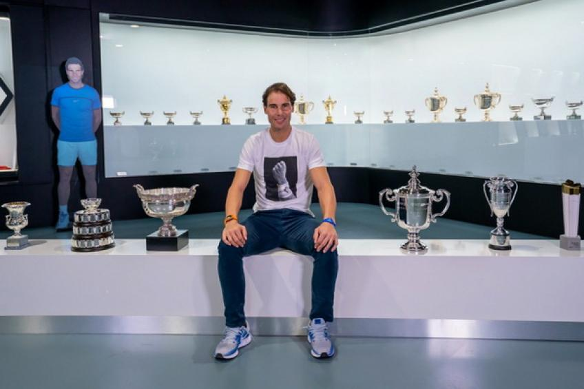 Rafael Nadal shares picture with six trophies from historic 2019