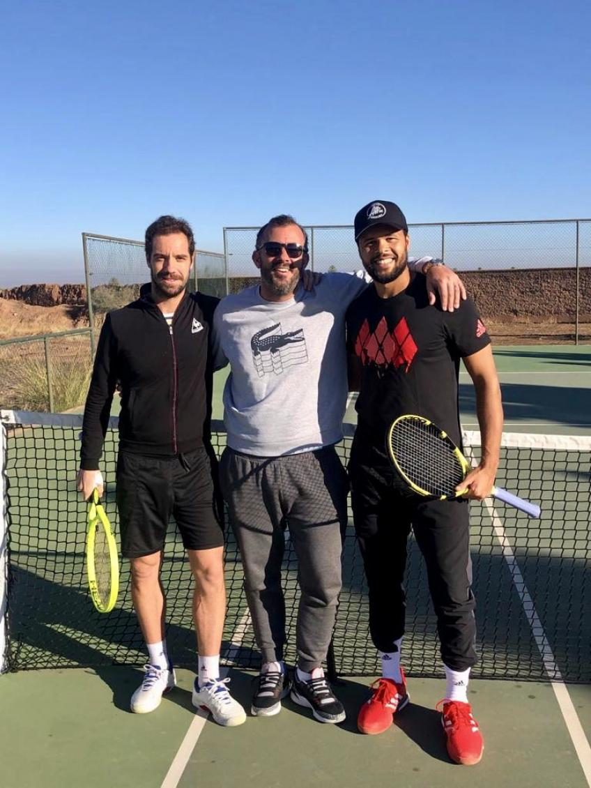 Richard Gasquet and Jo-Wilfried Tsonga Attend Training Camp in Morocco