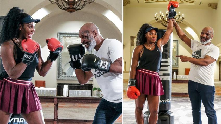 Mike Tyson says 'won't get into boxing ring with Serena Williams, she has some power'