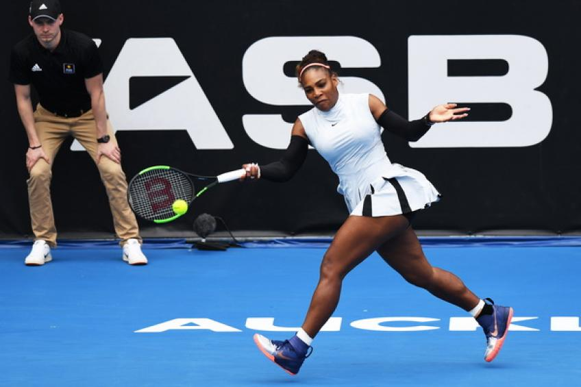 Serena Williams lands in Auckland ahead of the ASB Classic