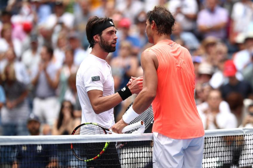 Nikoloz Basilashvili reacts to Rafael Nadal loss at ATP Cup