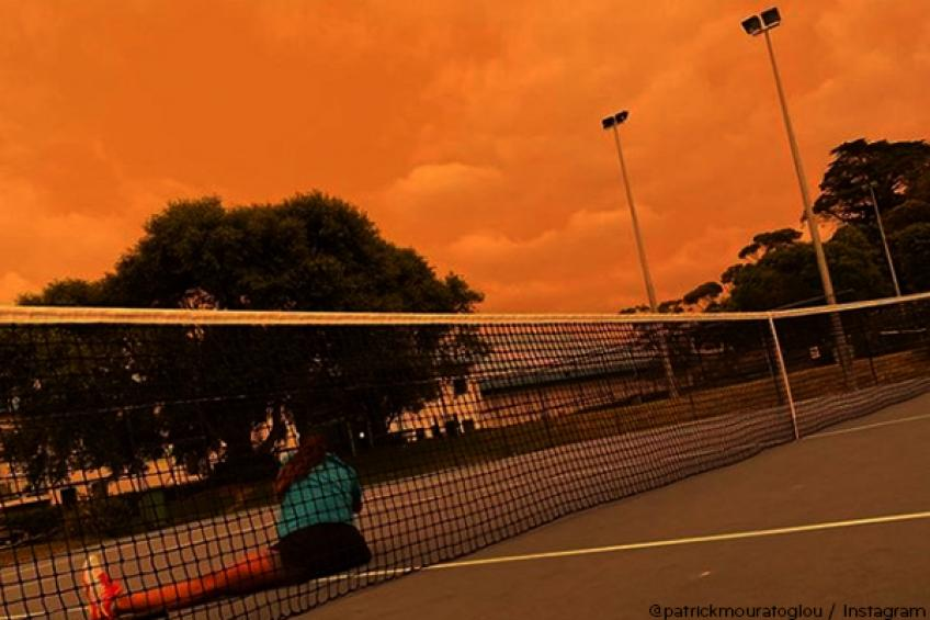 Serena Williams' coach affected by Australian fires: 'It was night at 3PM'