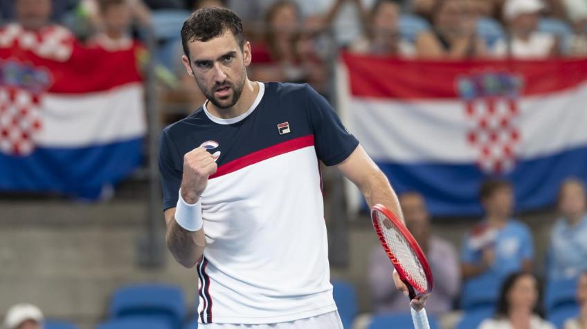 Marin Cilic reacts to Kacper Zuk win at ATP Cup